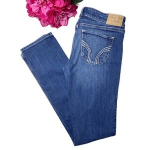 HOLLISTER Medium Wash Stretch Straight Jeans 5/27